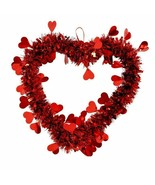 Hanging Tinsel Heart Decor Choose Either Heart or Lip Embellishments - $3.00