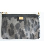 Dolce & Gabbana Animal Print Canvas Mini Bag with Gold Chain Strap - $195.00