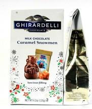 2 Ghirardelli Milk Chocolate Caramel Snowmen Luscious Filling 4.2oz Holiday Gift - $23.99