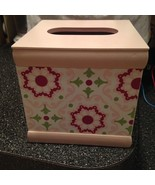 Wendy Bellissimo Baby & Kids Mauve Pink & Green Flowers TISSUE BOX COVER... - $24.99
