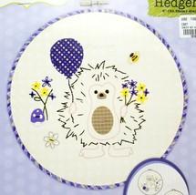 Beginner Stamped Embroidery Applique Hedgehog Kit Hoop Included New - $9.99