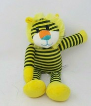 Beverly Hills Baby Plush Rattle Yellow Lion Striped - $14.50