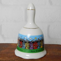 Vintage San Francisco Skyline Painted Ladies Souvenir Ceramic Bell 3.25 ... - $11.99