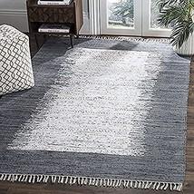 Safavieh Montauk Collection MTK711G Handmade Stripe Fringe Cotton Area R... - $92.98