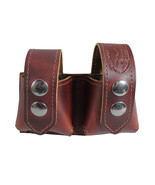 New Barsony Burgundy Leather Revolver Double Speed Loader Pouch .22 .38 ... - $39.99