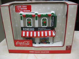 COCA COLA TOWN SQUARE FIBER OPTIC ECKERD DRUG STORE ISSUED 2003 ECKERD E... - $72.27