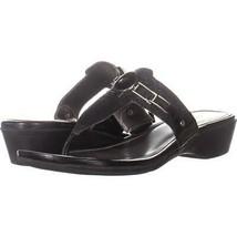 Marc Fisher Amina2 Thong Flip Flop Sandals 703, Black Multi, 8 US - $16.30