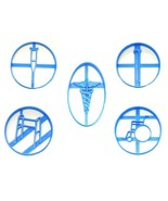 Medical Devices Healing Healthcare Symbol Set of 5 Cookie Cutters USA PR... - $13.99