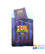 FC BARCELONA SINGLE DUVET SET STRIPED BED OFFICIAL FOOTBALL SOCCER TEAM ... - $45.93