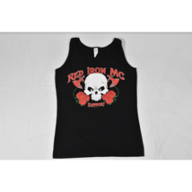 Womens Gildan Red Iron Motorcycle Club Support (Arizona) Tank Top L Blac... - $12.73