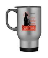Womens Funny Dobermann Pinscher Dog Spirit Animal Novelty Travel Mug - $21.99