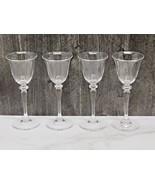 "Set of 4 Frederick Carder Steuben 6401 Crystal Glass Cordial Glasses 6.75"" - $173.25"