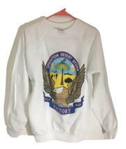 Vtg 1991 Operation Desert Storm Sweatshirt Crewneck Size M 38-40 90's Ha... - $42.72