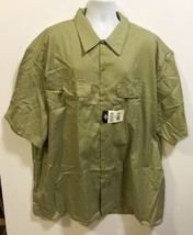 NWT Dickies Mens 5XL Canvas Work Shirt Khaki Short Sleeve Cotton Blend  - €27,79 EUR