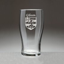Gibson Irish Coat of Arms Tavern Glasses - Set of 4 (Sand Etched) - $56.79