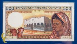 1976 Banknotes of All Nations Banque Centrale Des Comores 500 Francs (UNC) - $34.65