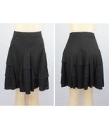 Lauren Ralph Lauren Petite Ruffled A-Line Skirt 201196271001 Black PL - $23.28