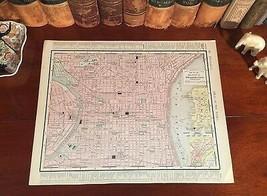 Large Original 1899 Antique Map PHILADELPHIA Pennsylvania PA Historic La... - $40.00