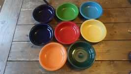 8 Fiestaware Mixed Colors Cereal Bowls 6 7/8 inch diameter - $90.09