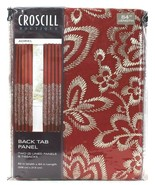 1 Pack Croscill Boutique Adriel 82 In X 84 In Red 2 Back Tab Panels & Tiebacks - $74.99