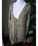 lilith brown green stripes wool alpaca blend sweater cardigan L sz42 France - $66.49