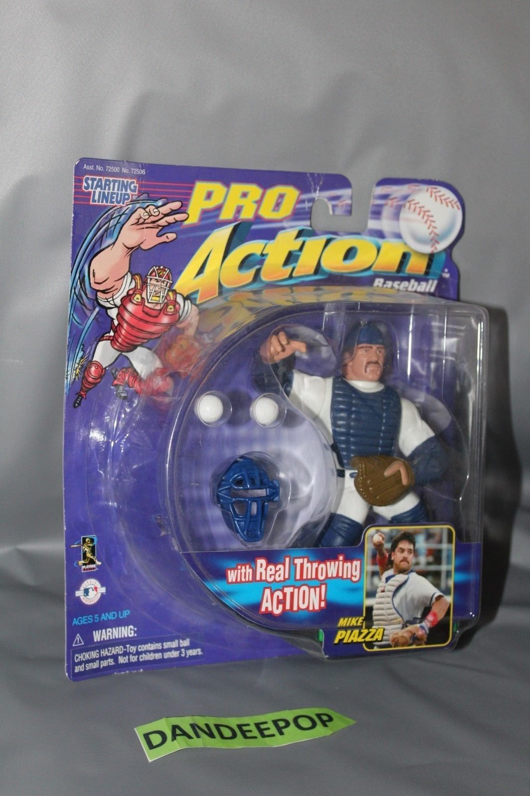 Primary image for Starting Lineup Mike Piazza Action Figure With Throwing Action MLB Hasbro 1998