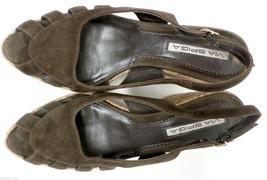 VIA SPIGA Size 7 Brown Slingback Cork Wedge Heels Sandals Shoes - $30.60