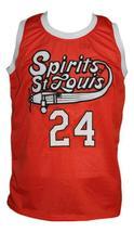 Marvin Barnes #24 Spirits of St Louis Aba Basketball Jersey Sewn Orange Any Size image 3