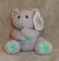 "Enesco Precious Moments Sharing Bear Plush New  Purple 6"" Stuffed Animal... - $7.06"