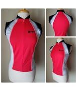 Hincapie Women's Cycling Jersey Half Zip Red Sleeveless Athletic Top Ita... - $18.74