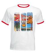 LISBON - PORTUGAL - NEW RED RINGER COTTON TSHIRT - $19.53