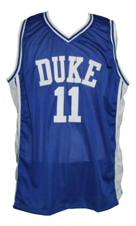 Bobby hurley  11 custom college basketball jersey blue   1