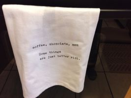 The Best Message Kitchen Gift Towel  Made in USA by Hand image 7