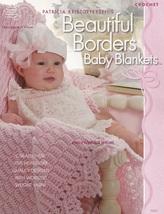 Beautiful Borders Baby Blankets Patricia Kristoffersen Crochet Patterns ... - $18.95