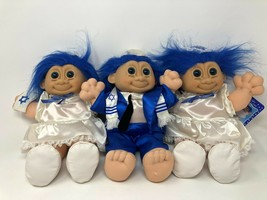 "Vtg Trolls Girl Boy Bat Mitzvah Plush Doll Jewish Hanukkah Lot of 3 12"" ... - $33.84"