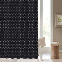 Starry Night Starlight Black Polyester Shower Curtain 180cm x 180cm - $15.00