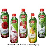 Mapro Syrup Choose from 5 Variants Drink Liquid Concentrate from India - $30.00+