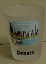 Cute Satin Glass Transfer Ware Chicago Souvenir Shot Glass, Personalized... - $6.92