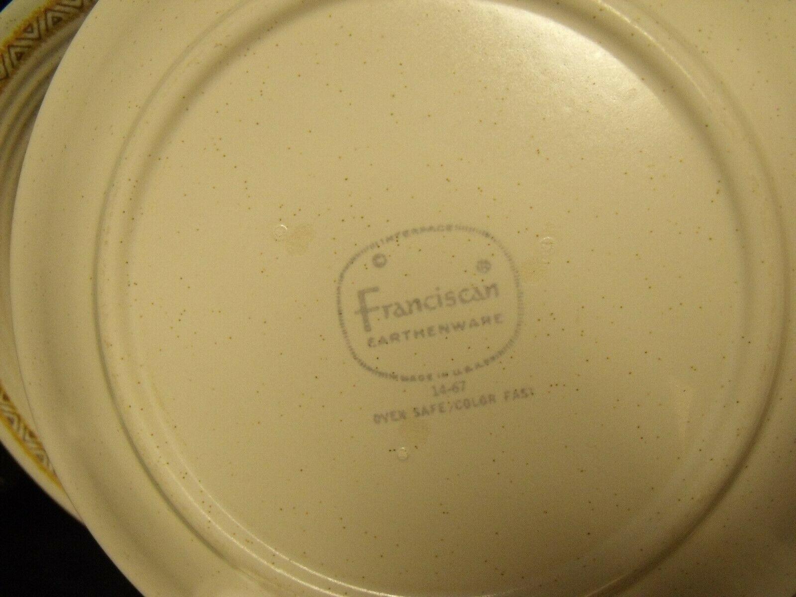"SET OF (8) FRANCISCAN HACIENDA GOLD STONEWARE 6 1/2"" BREAD PLATES ~ NOS"