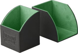 Dragon Shield Nest 100 Magnetic Deck Protector Gaming Box Green & Black - $24.75