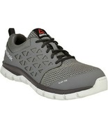 Reebok Alloy Toe Work Shoe in Gray EH Rated Slip Resistant 6 to 15 - $99.99