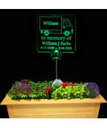 Box Truck Solar Light  Personalized, grave marker, garden light, memorial - $38.00