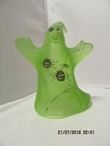 "FENTON ART GLASS 2009 ""PATCH"" HALLOWEEN GHOST FIGURINE - $125.00"