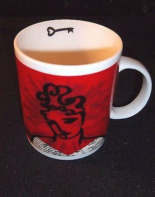 STARBUCKS Mug RARE Romeo and Juliet KEY TO MY HEART Valentine's Day 14 oz Nicked
