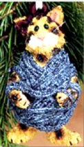 """Boyds Purrstone Ornament- """"Darby Fuzzkins..Wound Tight"""" - #271800- New- Retired - $14.99"""
