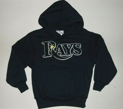 MLB Tampa Bay Rays Long Sleeve Hoodie Hooded Sweatshirt Shirt Kids 5-6 or 7 NWT - $23.99