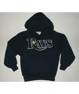 MLB Tampa Bay Rays Long Sleeve Hoodie Hooded Sweatshirt Shirt Kids 5-6 o... - $29.99