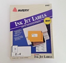 Avery 8163 Shipping Addressing Labels 210 Count Inkjet 2 x 4 - 21 Sheets - $6.92