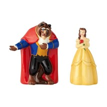 Walt Disney Beauty & the Beast First Dance Ceramic Salt & Pepper Shakers Set NEW - $24.18