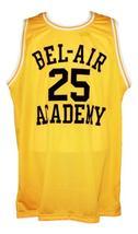 Carlton Banks #25 Bel-Air Academy Basketball Jersey New Sewn Yellow Any Size image 1